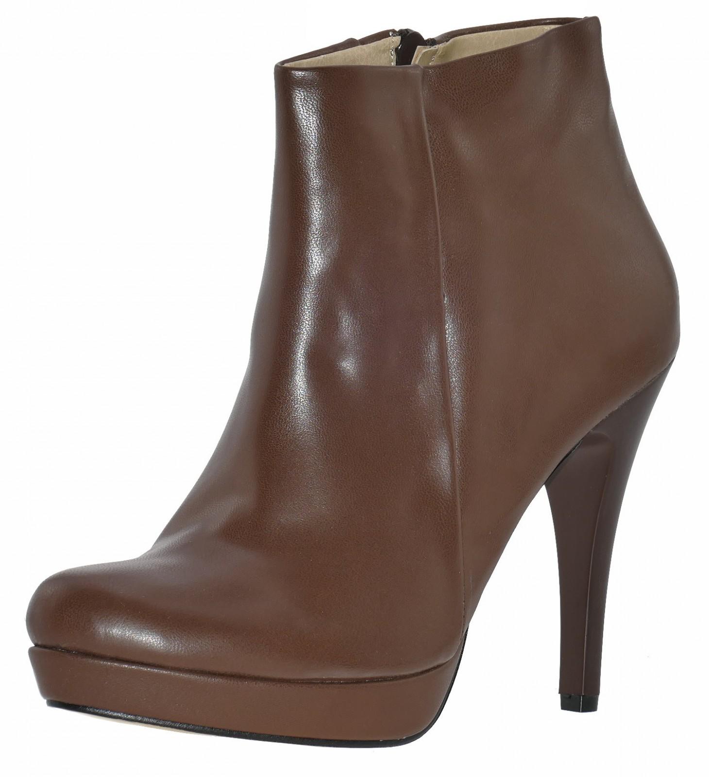 addonna 181093 plateau stiefeletten braun high heel. Black Bedroom Furniture Sets. Home Design Ideas