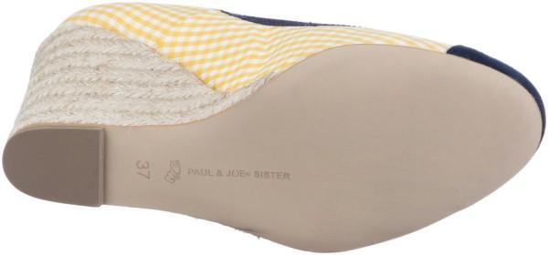 Paul & Joe Sister Lili Keilpumps jaune blanc marine  – Bild 4